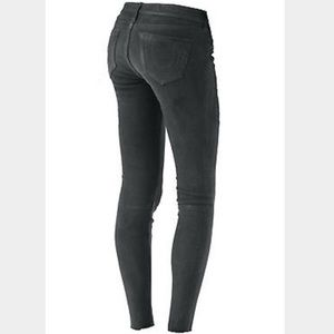 True Religion Casey Suede Skinny Jeans sz 27